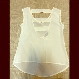 White Tank with detailed back